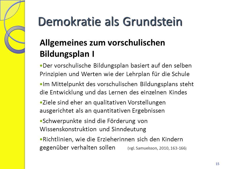 Demokratie als Grundstein