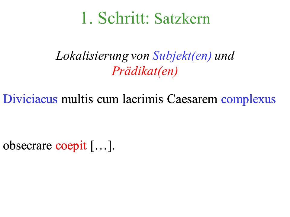 Lokalisierung von Subjekt(en) und Prädikat(en)