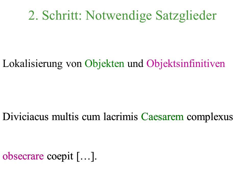 2. Schritt: Notwendige Satzglieder