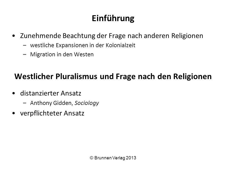 Westlicher Pluralismus und Frage nach den Religionen