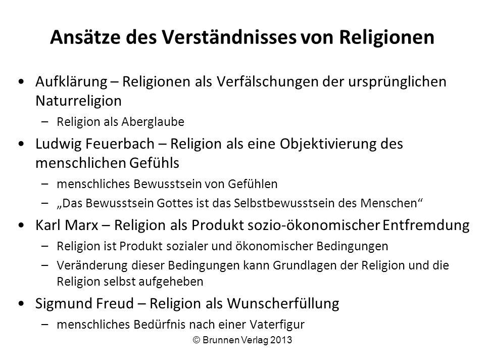 Ansätze des Verständnisses von Religionen