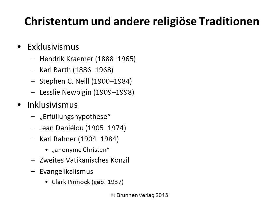Christentum und andere religiöse Traditionen