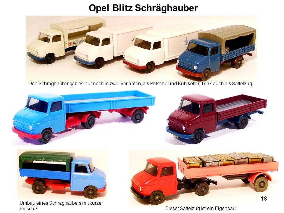 Opel Blitz Schräghauber