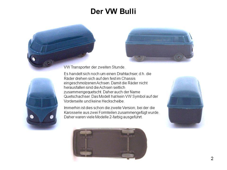 Der VW Bulli VW Transporter der zweiten Stunde.