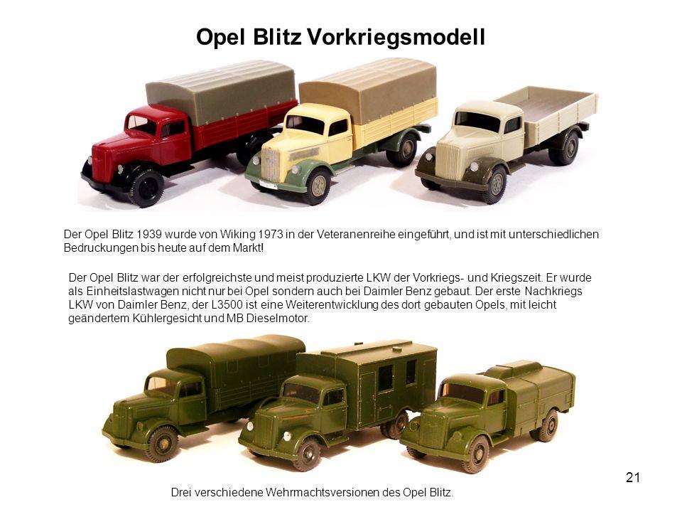 Opel Blitz Vorkriegsmodell