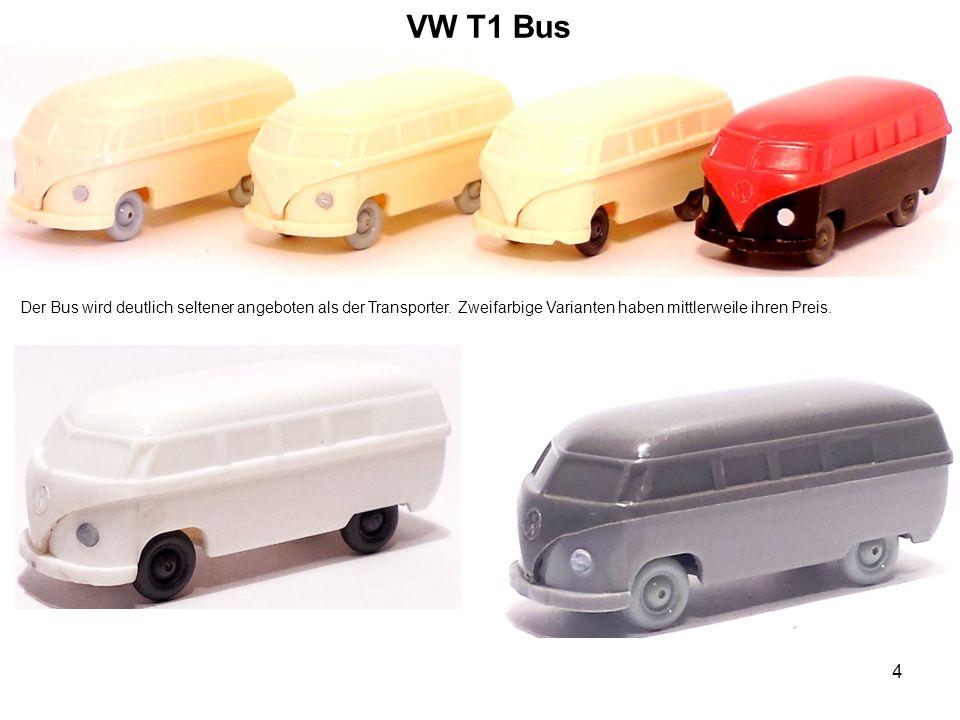 VW T1 Bus Der Bus wird deutlich seltener angeboten als der Transporter.
