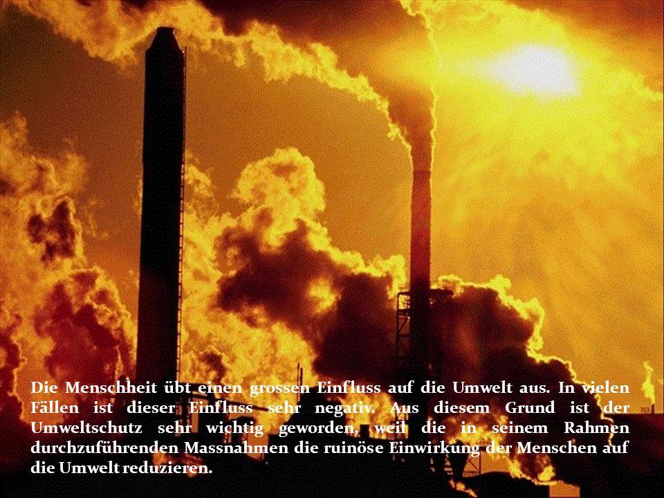 Die Menschheit übt einen grossen Einfluss auf die Umwelt aus