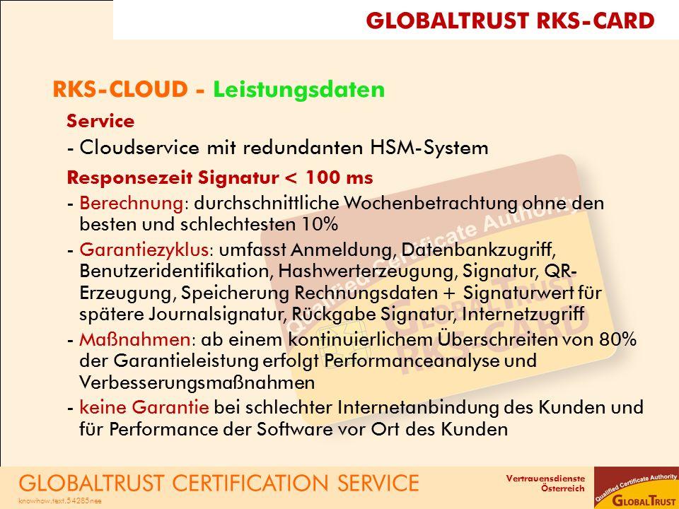 RKS-CLOUD - Leistungsdaten