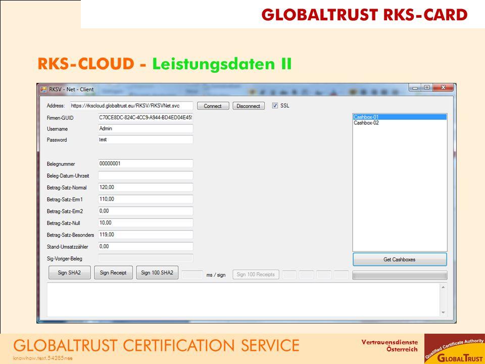 RKS-CLOUD - Leistungsdaten II