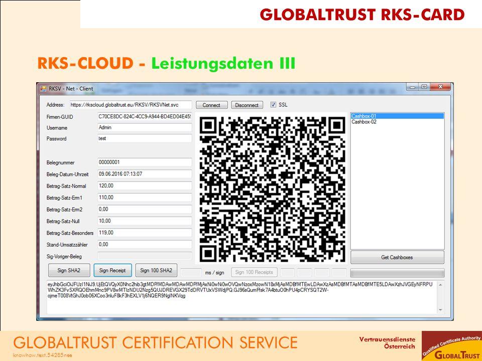 RKS-CLOUD - Leistungsdaten III