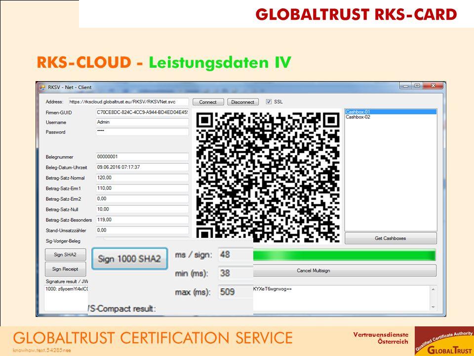 RKS-CLOUD - Leistungsdaten IV