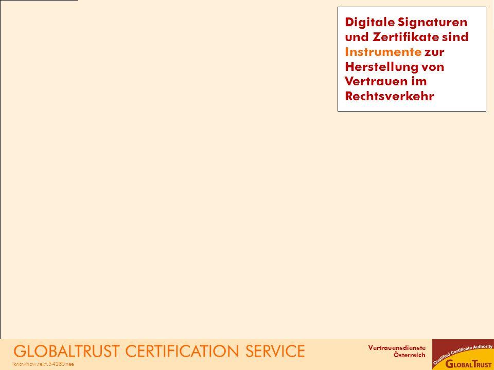 GLOBALTRUST CERTIFICATION SERVICE