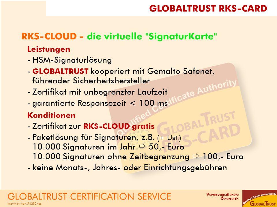 RKS-CLOUD - die virtuelle SignaturKarte