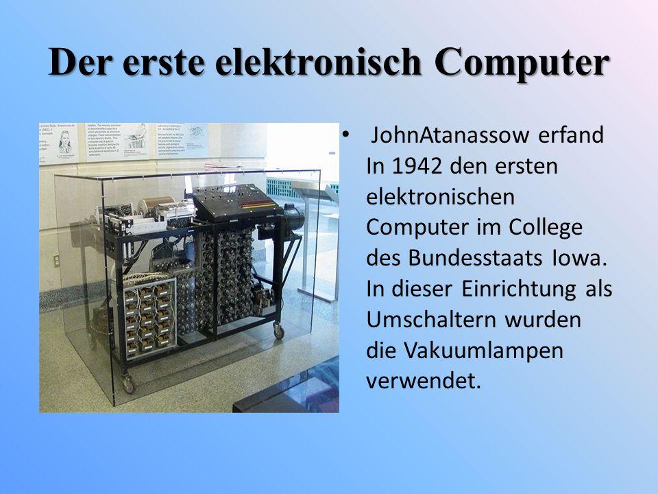 Der erste elektronisch Computer