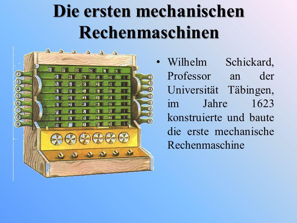 Die ersten mechanischen Rechenmaschinen