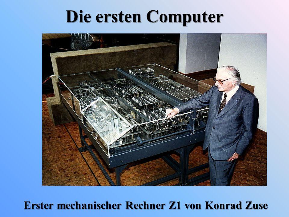 Erster mechanischer Rechner Z1 von Konrad Zuse