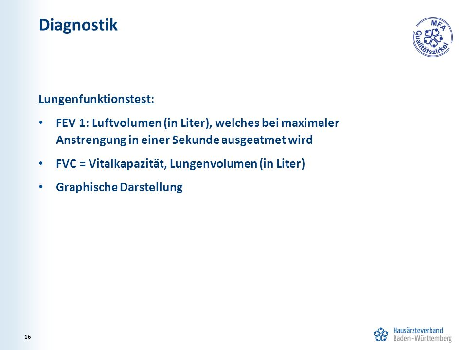Diagnostik Lungenfunktionstest: