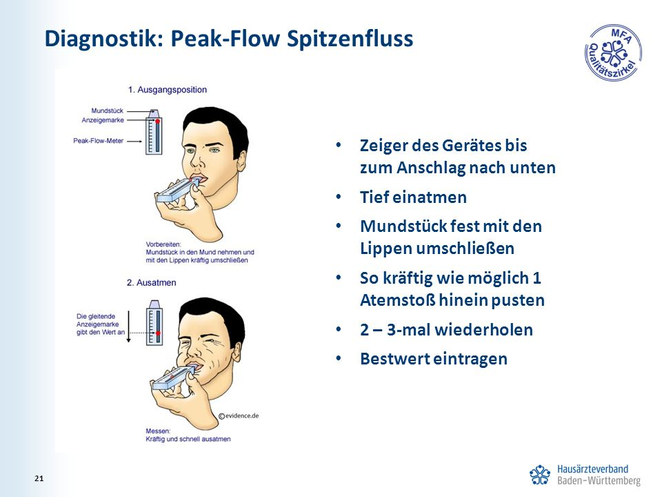 Diagnostik: Peak-Flow Spitzenfluss