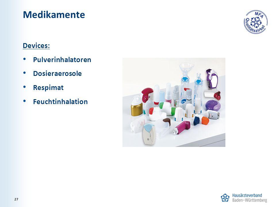 Medikamente Devices: Pulverinhalatoren Dosieraerosole Respimat
