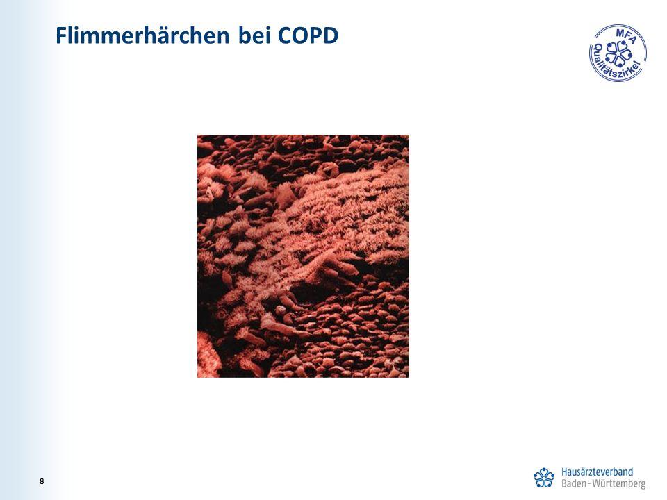 Flimmerhärchen bei COPD