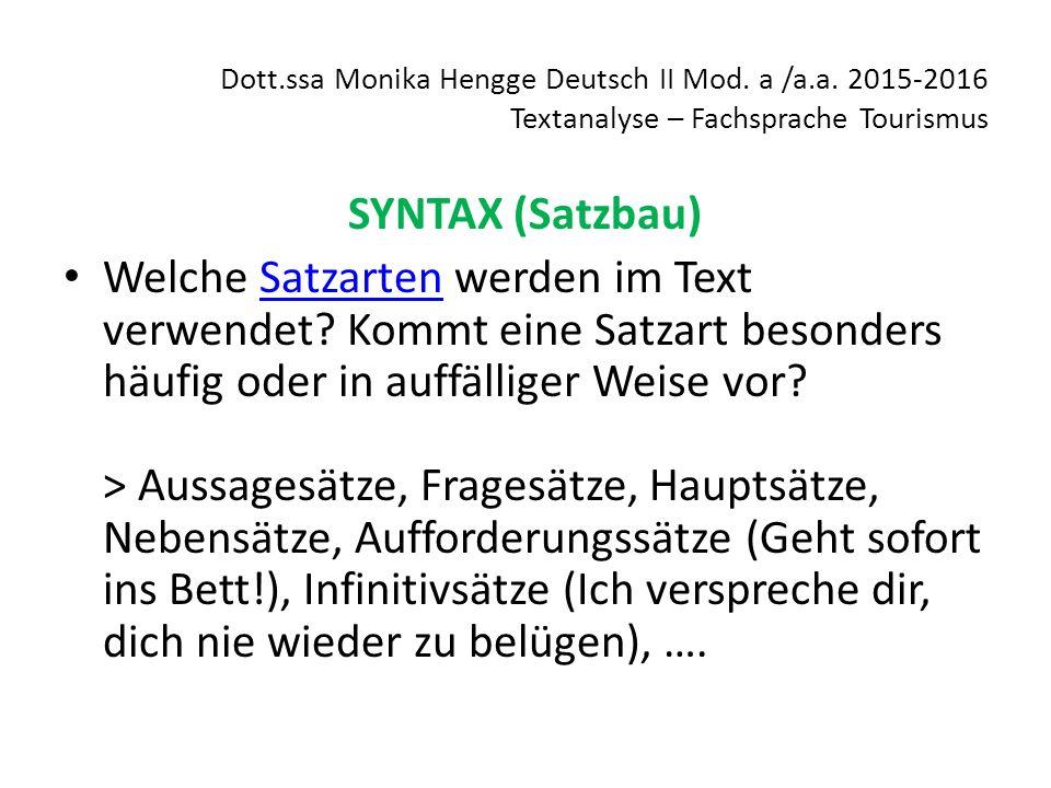 Dott. ssa Monika Hengge Deutsch II Mod. a /a. a