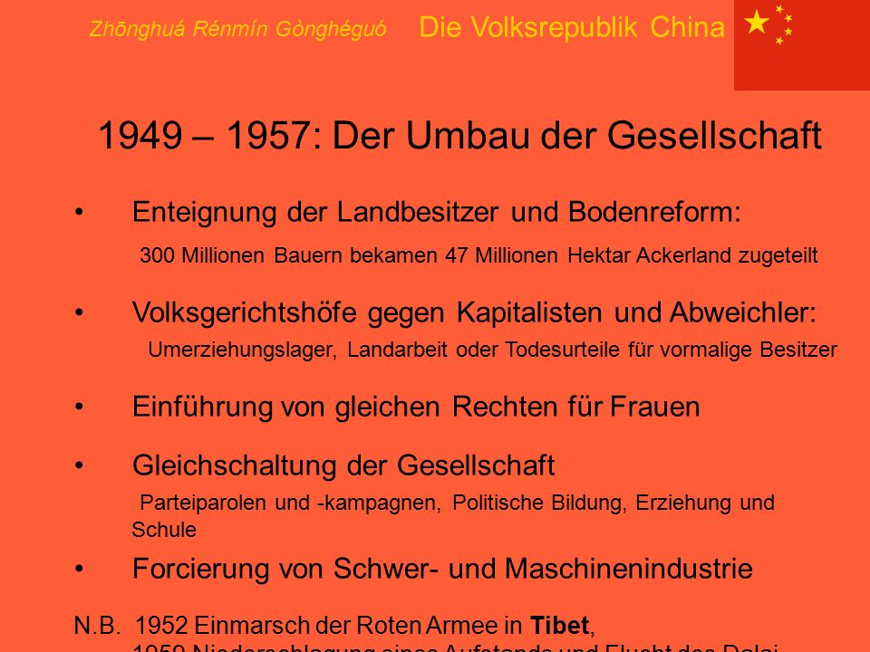 1949 – 1957: Der Umbau der Gesellschaft