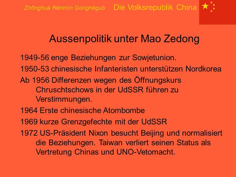 Aussenpolitik unter Mao Zedong
