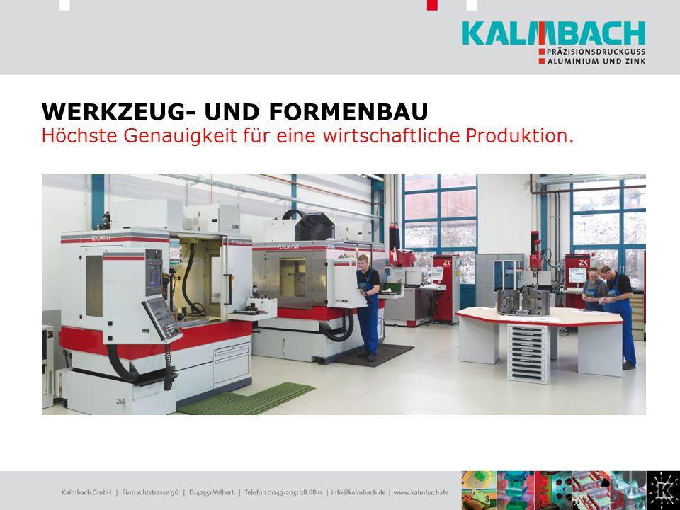 WERKZEUG- UND FORMENBAU Höchste Genauigkeit für eine wirtschaftliche Produktion.