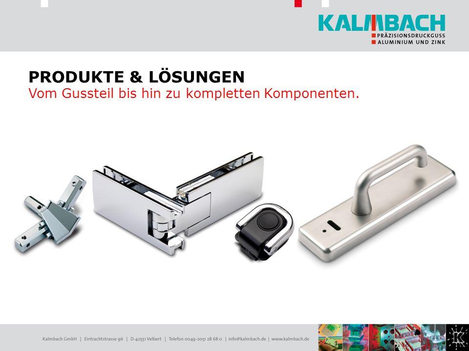 PRODUKTE & LÖSUNGEN Vom Gussteil bis hin zu kompletten Komponenten.