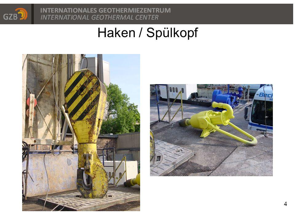 Haken / Spülkopf