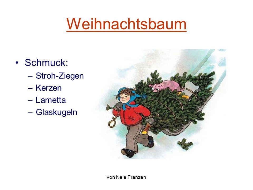 Weihnachtsbaum Schmuck: Stroh-Ziegen Kerzen Lametta Glaskugeln