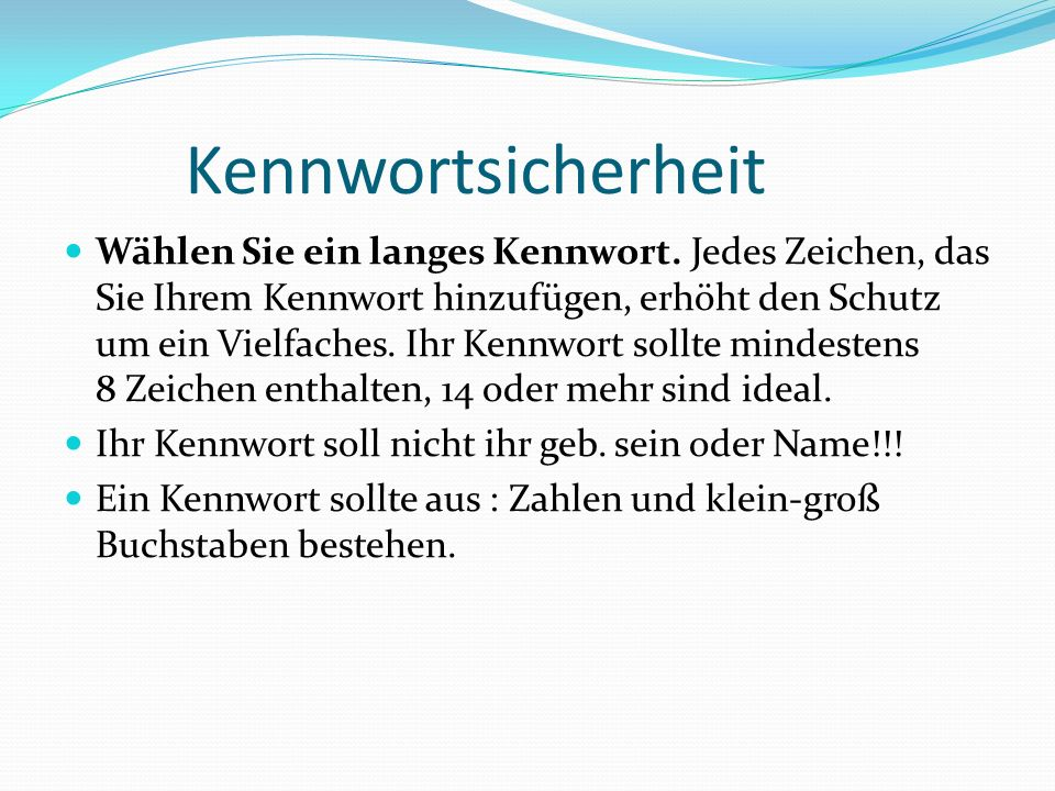 Kennwortsicherheit