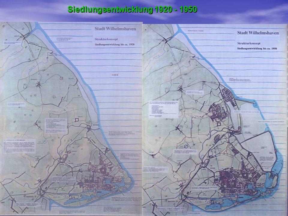 Siedlungsentwicklung 1920 - 1950