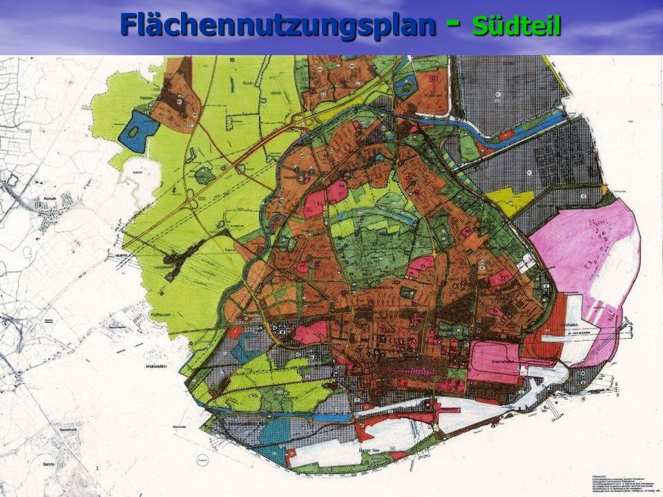 Flächennutzungsplan - Südteil