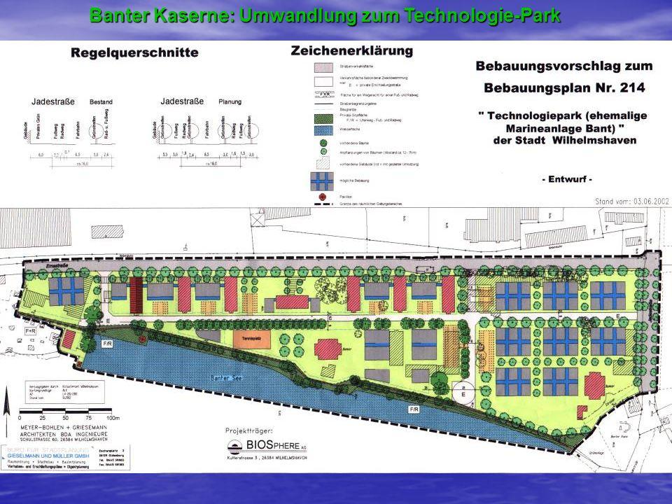 Banter Kaserne: Umwandlung zum Technologie-Park