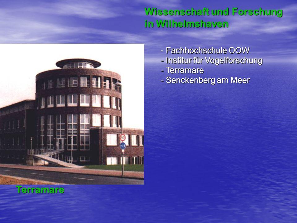 Wissenschaft und Forschung in Wilhelmshaven