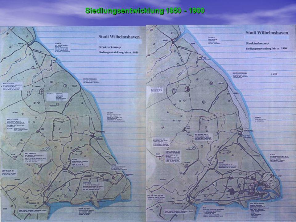 Siedlungsentwicklung 1850 - 1900
