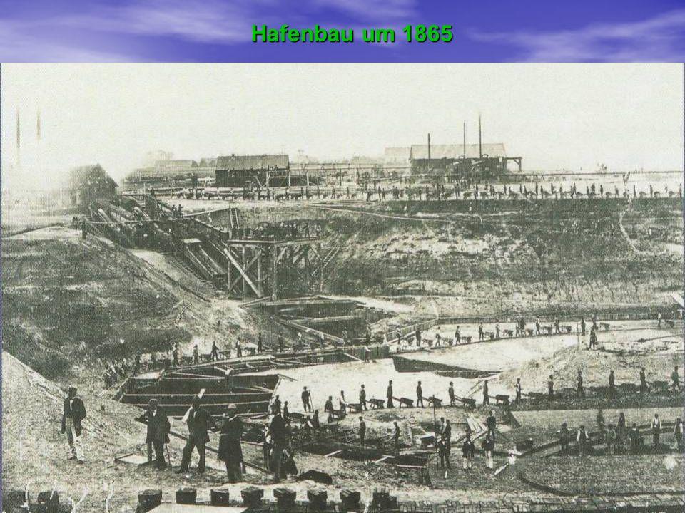 Hafenbau um 1865