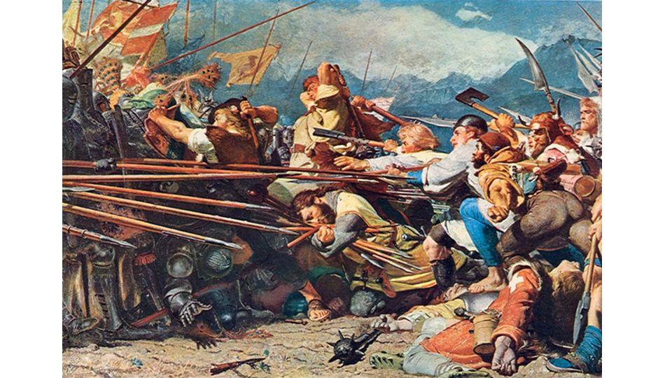 Winkelried, Schlacht bei Sempach, 1386