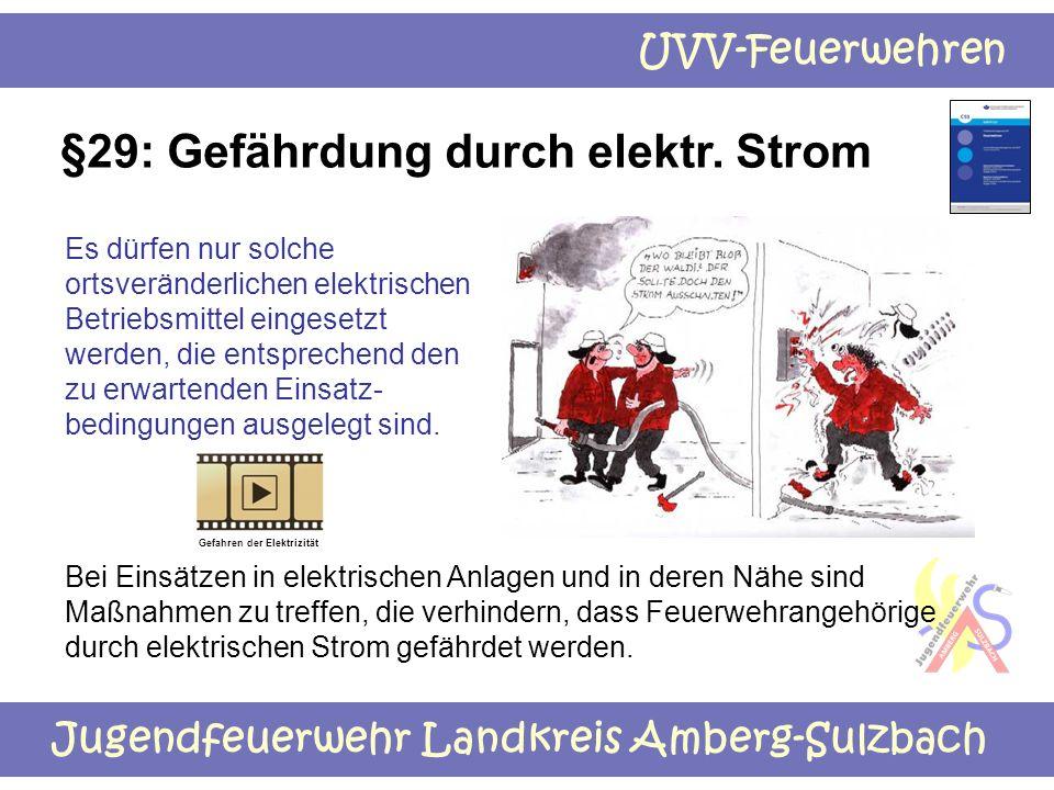 §29: Gefährdung durch elektr. Strom
