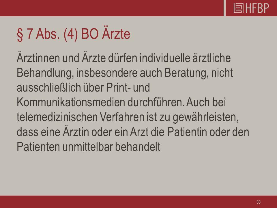 § 7 Abs. (4) BO Ärzte