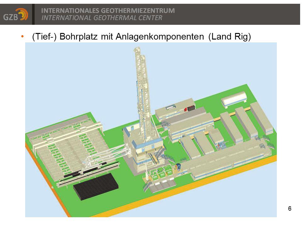 (Tief-) Bohrplatz mit Anlagenkomponenten (Land Rig)