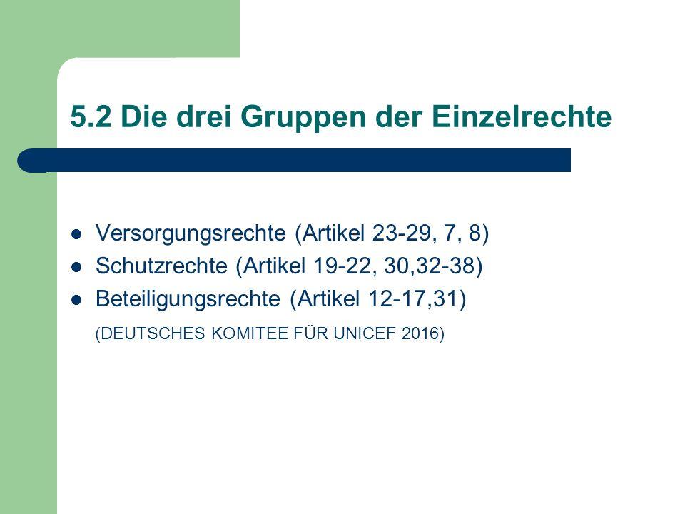5.2 Die drei Gruppen der Einzelrechte