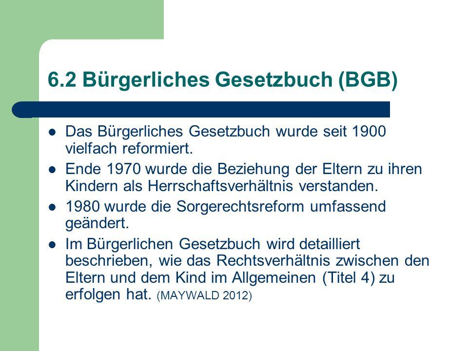 6.2 Bürgerliches Gesetzbuch (BGB)