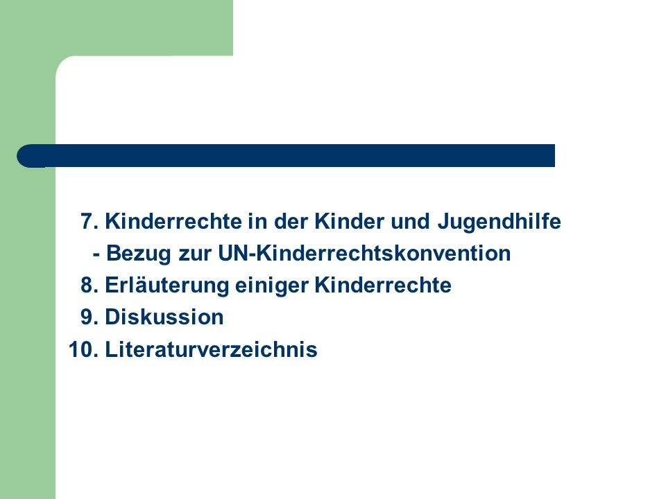 7. Kinderrechte in der Kinder und Jugendhilfe
