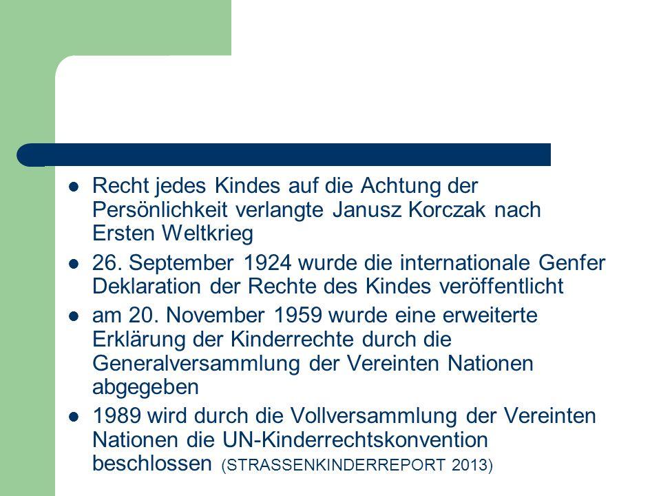 Recht jedes Kindes auf die Achtung der Persönlichkeit verlangte Janusz Korczak nach Ersten Weltkrieg