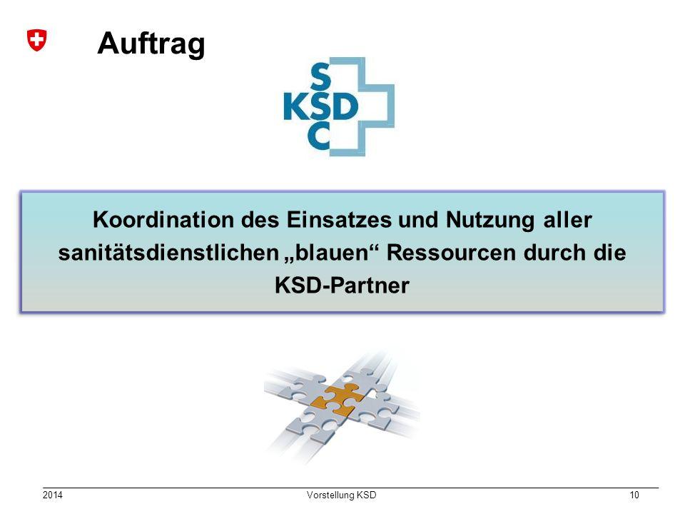 """Auftrag Koordination des Einsatzes und Nutzung aller sanitätsdienstlichen """"blauen Ressourcen durch die KSD-Partner."""