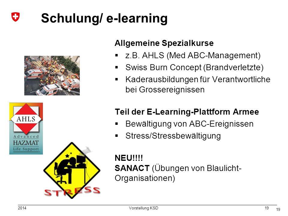 Schulung/ e-learning Allgemeine Spezialkurse