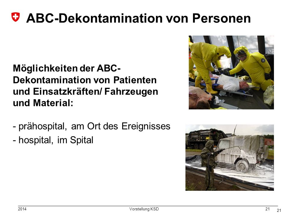 ABC-Dekontamination von Personen