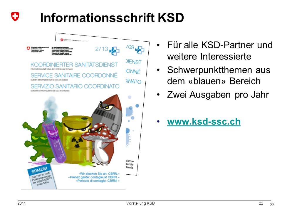 Informationsschrift KSD